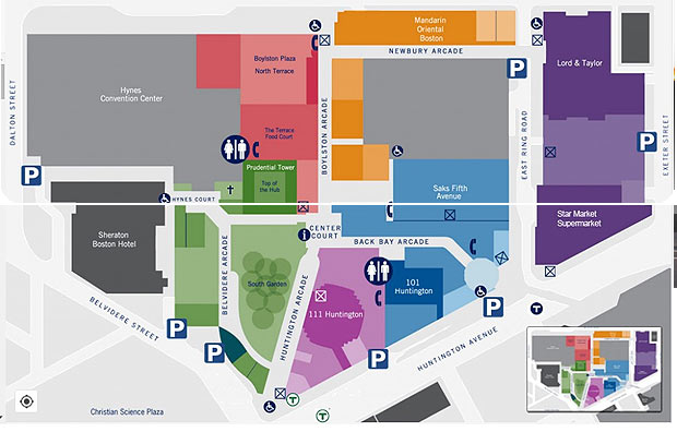 Hynes Convention Center Map